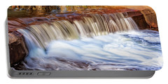 Portable Battery Charger featuring the photograph Full Flow, Noble Falls, Perth by Dave Catley