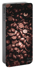 Full Frame Background Of Chocolate Chips Portable Battery Charger