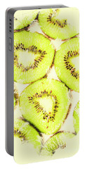 Full Frame Shot Of Fresh Kiwi Slices With Seeds Portable Battery Charger by Jorgo Photography - Wall Art Gallery