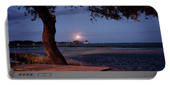 Full Moon At Inlet Watch Portable Battery Charger by Phil Mancuso