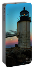 Full Moon At Marshall Point Lighthouse Portable Battery Charger