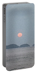 Full Moon At The Beach Portable Battery Charger