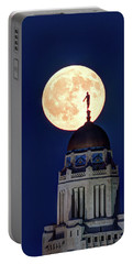 Full Moon Before The Eclipse Portable Battery Charger