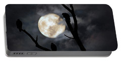 Portable Battery Charger featuring the photograph Full Moon Committee by Darren Fisher