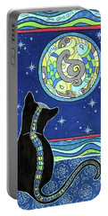 Pisces Cat Zodiac - Full Moon Portable Battery Charger