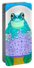 Portable Battery Charger featuring the digital art Full Moon Froggy  by Nick Gustafson