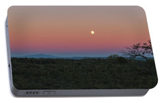 Portable Battery Charger featuring the photograph Full Moon Horizon by Tom Singleton