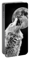 Full Moon Howl Portable Battery Charger