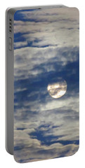 Full Moon In Gemini With Clouds Portable Battery Charger