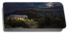 Full Moon Over Greenleaf Hut Portable Battery Charger