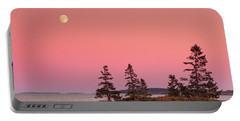 Portable Battery Charger featuring the photograph Full Moon Over Maine  by Emmanuel Panagiotakis