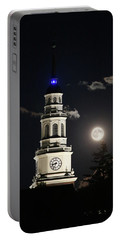 Full Moon Over Miller Library Portable Battery Charger