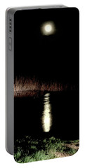 Full Moon Over Piermont Creek Portable Battery Charger
