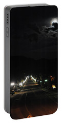 Full Moon Over Red River Portable Battery Charger