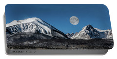 Full Moon Over Silverthorne Mountain Portable Battery Charger