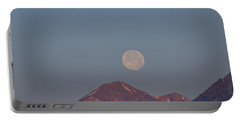 Full Moon Over The Tetons Portable Battery Charger