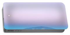 Full Moon Rising At Dusk Over Mauna Kea Portable Battery Charger