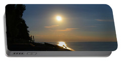 Full Moon Rising Out Of Lake Huron Portable Battery Charger