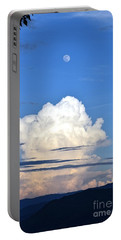 Portable Battery Charger featuring the photograph Full Moon Rising Over Blue Ridge by Gary Smith