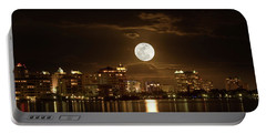 Full Moon Rising Over Sarasota Portable Battery Charger