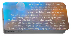 Portable Battery Charger featuring the photograph Full Moon Serenity Prayer Digital by Floyd Snyder