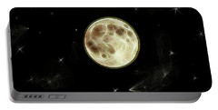 Full Moon Summer Fantasy Portable Battery Charger by Aliceann Carlton