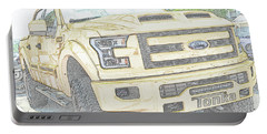 Portable Battery Charger featuring the photograph Full Sized Toy Truck by John Schneider