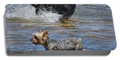 Fun At The Lake Portable Battery Charger by Jim Fitzpatrick