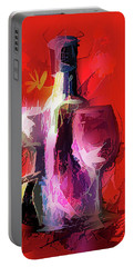 Fun Colorful Modern Wine Art   Portable Battery Charger