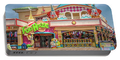 Portable Battery Charger featuring the photograph Fun House On The Point Pleasant Boardwalk by Kristia Adams