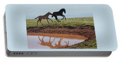 Fun In The Rockies- Wild Horse Foals Portable Battery Charger
