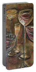 Fun Wine Glasses Portable Battery Charger