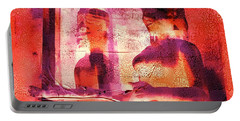 Funky Abstract Square Welcome Couple Red Pink Purple Lake City 1a Portable Battery Charger