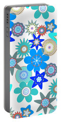 Funky Flower Pattern Portable Battery Charger by Methune Hively