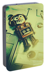 Funky Mixtape Robot Portable Battery Charger by Jorgo Photography - Wall Art Gallery
