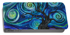 Funky Tree, Starry Night Portable Battery Charger