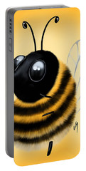 Portable Battery Charger featuring the painting Funny Bee by Veronica Minozzi