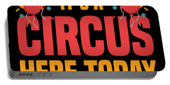 Birthday Circus Carnival Party Warning Apparel Portable Battery Charger