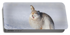 Funny Face - Mountain Hare - Scottish Highlands  #13 Portable Battery Charger