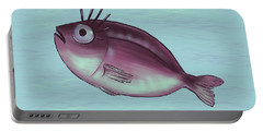 Funny Fish With Fancy Eyelashes Portable Battery Charger