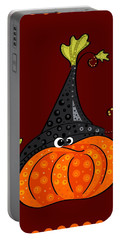 Portable Battery Charger featuring the painting Funny Halloween by Veronica Minozzi