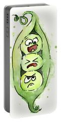 Funny Peas In A Pod Portable Battery Charger