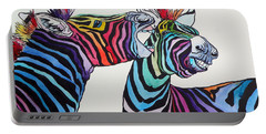 Funny Zebras Portable Battery Charger