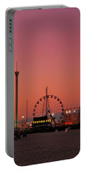 Funtown Pier At Sunset II - Jersey Shore Portable Battery Charger