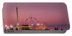 Funtown Pier At Sunset IIi - Jersey Shore Portable Battery Charger
