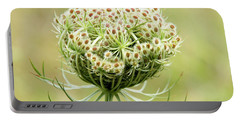 Furled Queen Anne's Lace Portable Battery Charger