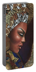 Portable Battery Charger featuring the mixed media Further Contemplation by Alga Washington