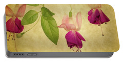 Fuschia  #2 Portable Battery Charger by Rebecca Cozart