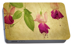 Portable Battery Charger featuring the photograph Fuschia  #2 by Rebecca Cozart