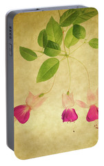 Portable Battery Charger featuring the photograph Fuschia #3 by Rebecca Cozart